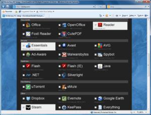 Ninite - select your programs