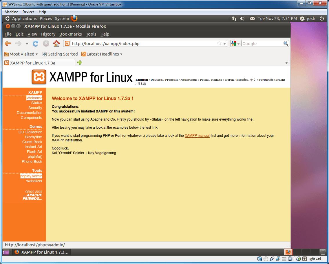 Install WordPress on a Ubuntu Virtual Machine using