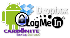Android+Dropbox+KeePass+LogMeIn+Carbonite