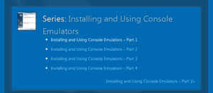 Table of contents for the Installing and Using Console Emulators series