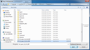 Screenshot of the fs2_open_3_6_12r_INF.exe file.