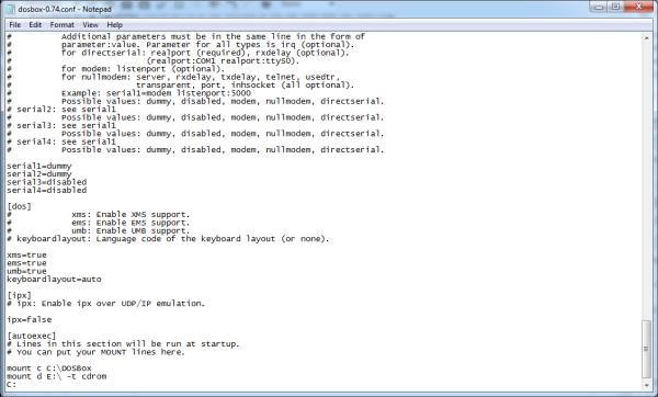 Install and Configure DOSBox – JoshMcCarty com
