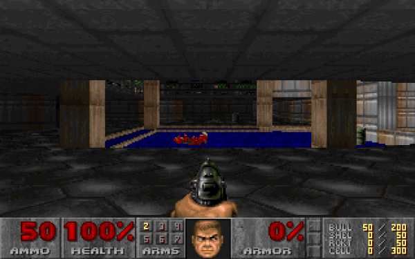 Screenshot of DOOM enlarged with no enhancement or scaling.