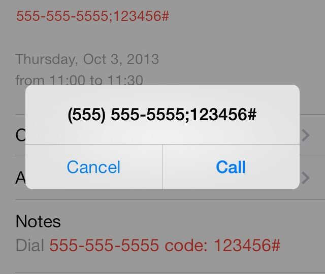 Auto-dial Teleconference Codes using iPhone – JoshMcCarty com