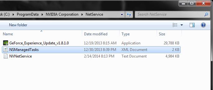 Fix GeForce Experience