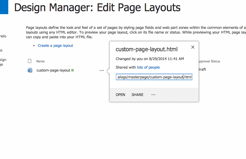 Get Publishing Page Layout HTML File Contents via JavaScript
